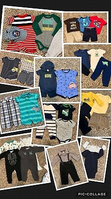 43 Piece Lot Baby Boy Clothes 6 Months 9 Months 6-9 Months Clothing