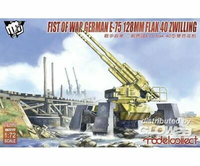 Modelcollect UA72117 Fist of War German WWII E75 flak 40 ZWILLING panzer in 1:72