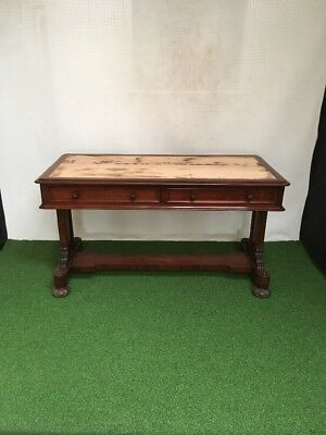 Quality Mahogany Antique Library/ Writing Table/ Desk.