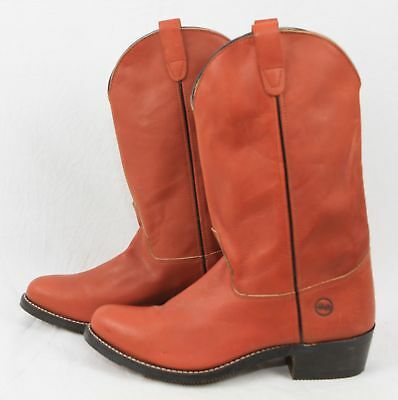 DOUBLE H 1603 Leather Western Cowboy Ranch BOOT Tan UK 11.5 342 G