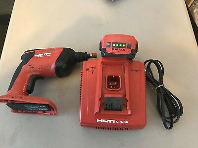 Hilti Sd4500-A18 Cordless Drywall Driver Screwdriver With Battery & Charger