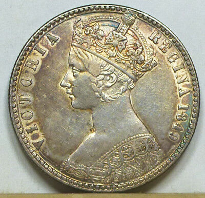 Great Britain Godless Florin 1849 Extremely Fine