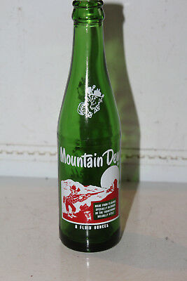 Super Rare 8 oz Mountain Dew Bottle ACL Hillbilly Pig Rare 1965 Vintage