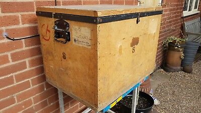 Large industrial tea chest storage packing trunk box coffee table 50 x 60 x 50cm