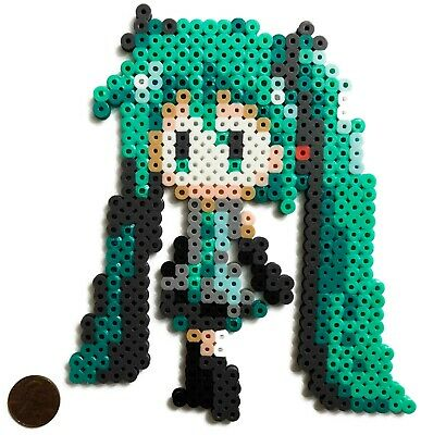 Hatsune Miku Vocaloid Bead Sprite Perler Pixel Art Icon Retro Project Diva Voice