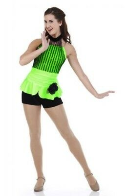 Looking Good Dance Costume GREEN Camisole Boy Shorts Unitard Tap Child Large  sc 1 st  PicClick & TWO CHILDRENu0027S Dance Costume Tutu Jazz/Tap (INT and LC Size ...