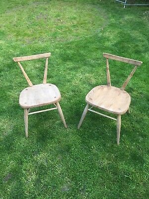 Vintage Ercol child's school Stacking wood chair's