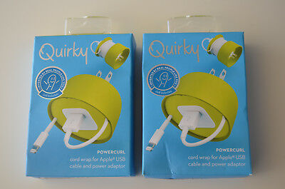 (2-PACK) Quirky Powercurl Cord Wrap for Apple USB: Cable & Power Adaptor