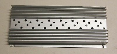 """Large Aluminum Heat Sink 10.25"""" x 4.75"""" x 1.25"""" for Eight TO-3 Transistors"""