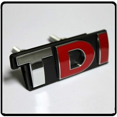 TDI Grill Badge Emblem Decal Sticker Logo VW Audi Seat Skoda Golf MK5 MK6 Car 49