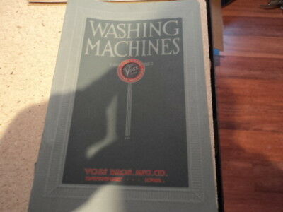 Vintage Washing Machines Voss pamphlet book