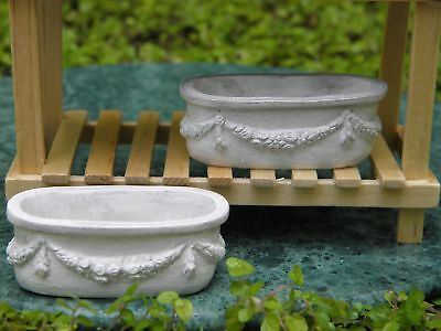 Miniature Dollhouse Fairy Garden Classical Planters - Set of 2 - Buy 3 Save $5