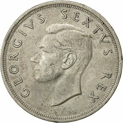[#492241] Coin, South Africa, George VI, 5 Shillings, 1952, AU(50-53), Silver