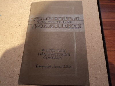 Vintage 1921 White Lily Manufacturing Washing Machine Davenport IA Book Pamphlet
