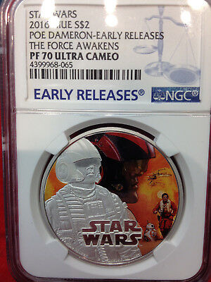 2016 Star Wars POE DAMERON PF70 THE FORCE AWAKENS Ultra Cameo Early Releases