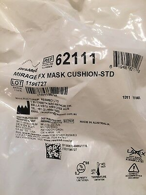 5 - ResMed Mirage FX Mask Cushions Standard #62111.. PLUS FOUR (4) FILTERS