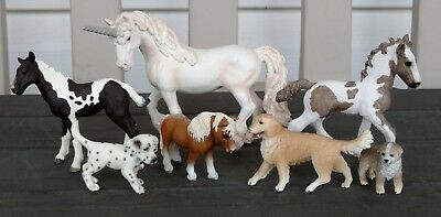 Breyer Stablemate and Little Bit Sized, Lot of 7 Horses and Dogs! SO CUTE!!!!!!!