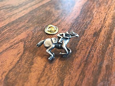 RACING SPORT JEWELRY 1 HORSE PEWTER PIN w/  CHOICE of NUMBER ALL NEW.