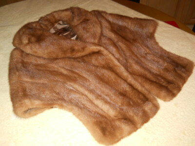 "Vintage 1950's ""young's, Louisville"" Furriers, Brown Mink Stole Wrap, Size Small"
