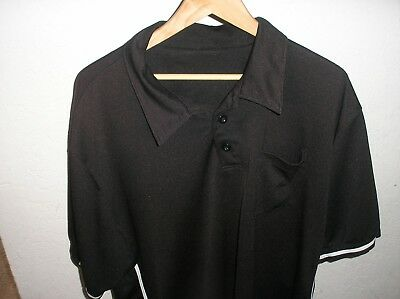Baseball UMPIRE SHIRT- Black Pro Style 2XL Smitty XXL Sold AS-IS Faded! Bronzed!