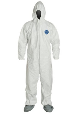 LOT OF 3 Paint industrial Dupont TY122S Tyvek Disposable Coverall Hood/Boots 3XL