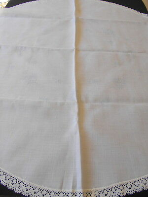 2 Vintage Supper Cloths, 1 To Embroider & 1 To Finish Embroidery