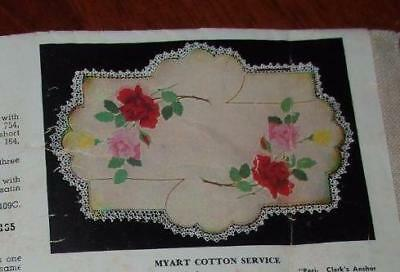 """NEW """" ROSE SPRAY """"UNWORKED MYART DOILY to EMBROIDER~MY ART"""
