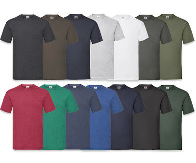 5er/10er FRUIT OF THE LOOM T SHIRT SETS M L XL XXL HERREN T SHIRTS NEUE FARBEN