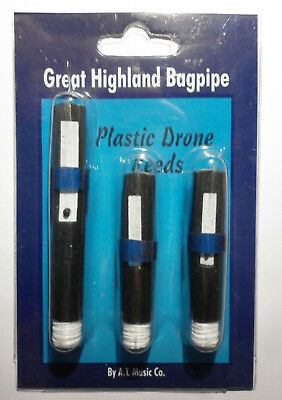 Scottish Bagpipes Drone Reeds Synthetic / Highland Bagpipe Plastic Drone Reeds