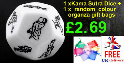 12 Sided Sex Adult Dice Hexagon Fun Novelty Gift Bedroom Toys Couples kama sutra
