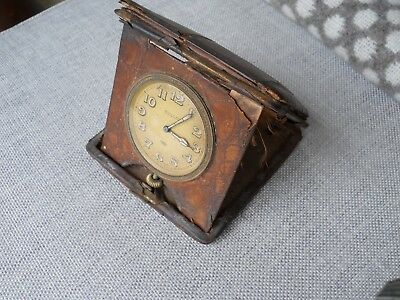 Antique travelling watch clock