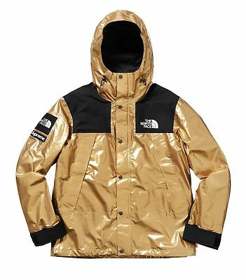 Supreme x The North Face Metallic Mountain Parka Gold Size L SS18 TNF LIMITED