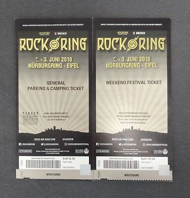 Rock am Ring 2018 Weekend Festival Ticket inkl. General Parking & Camping Ticket