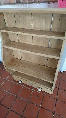 Antique reclaimed stripped pine Belgian bookcase