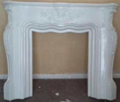 Mock Louis XV fire surround with Marble backing & Marble plinth (fire optional)