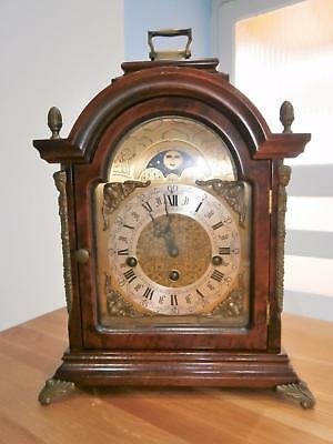 Burr Walnut Moonphase Westminster Bracket Clock G.W.O.