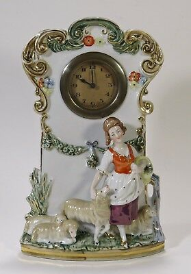 Porcelain Figural Shelf/Mantle Clock From Germany, Non-working
