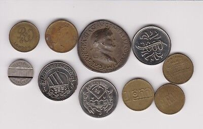 Mixed Lot Of Tokens .very Collectable.j.255