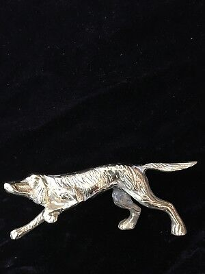 Irish Setter Vintage Solid Brass Dog figurine hunting pose Canine collectible