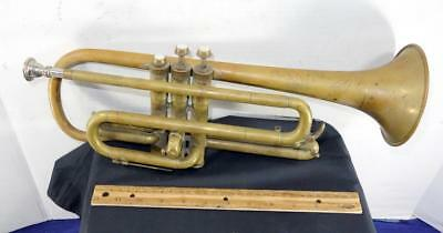 Antique Trumpet Coronet Levis Music Store Rochester NY Brass Instrument