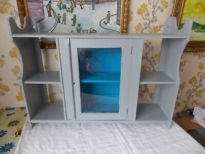 Vintage French large free standing/wall Shelving Unit with Glass Cupboard