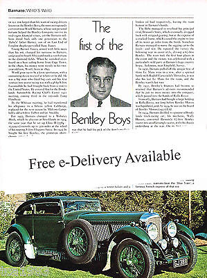 vintage Bentley Boys WOOLF BARNATO Article / Photo / Picture