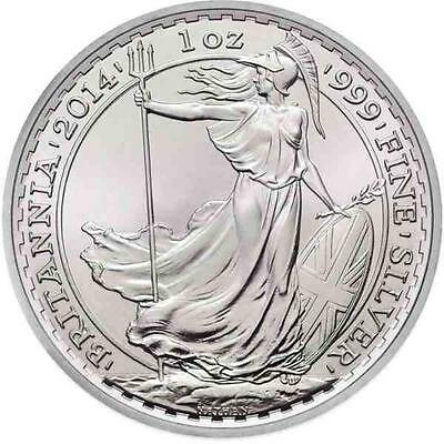 Brand New 2014 UK Great Britain Silver Britannia 1oz Bullion Coin - NO RESERVE