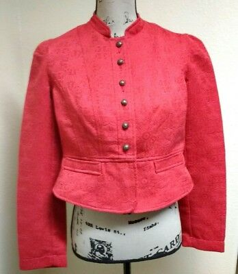 Motherhood Maternity Cropped Blazer Size S Button Up Jacket Red