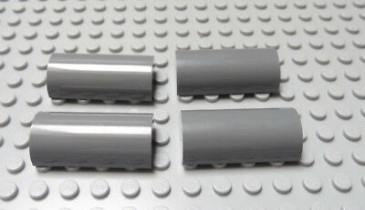 New LEGO Lot of 2 Dark Bluish Gray 2x4x1 1//3 Curved Top Brick Pieces from7 8038