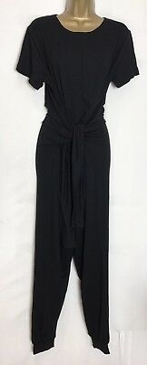 As*s Sample Maternity Black Stretch Jersey One Piece Play/Jumpsuit Size 10