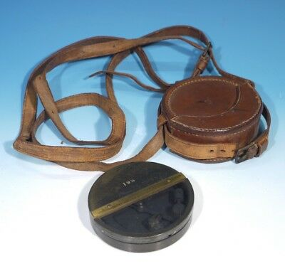 Antique Watkin's Clinometer by J. Hicks London with Leather Carrying Case.