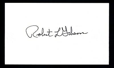 Robert Gibson NASA American Space Astronaut Signed 3x5 Index Card C13283