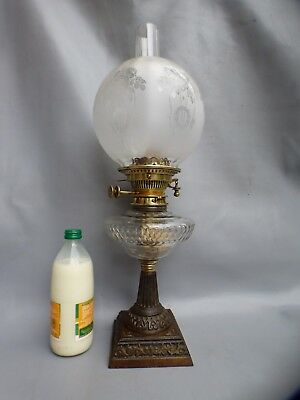 A Nice Benetfink Victorian Oil Lamp With Hinks Burner And Lozenge Mark For 1879