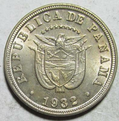 Panama, 5 Centesimos, 1932, AU-Uncirculated, with Luster, Copper-Nickel